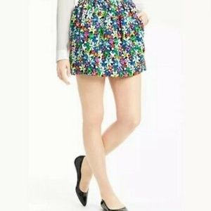 Kate Spade - Multi Color Floral Mini  Skirt